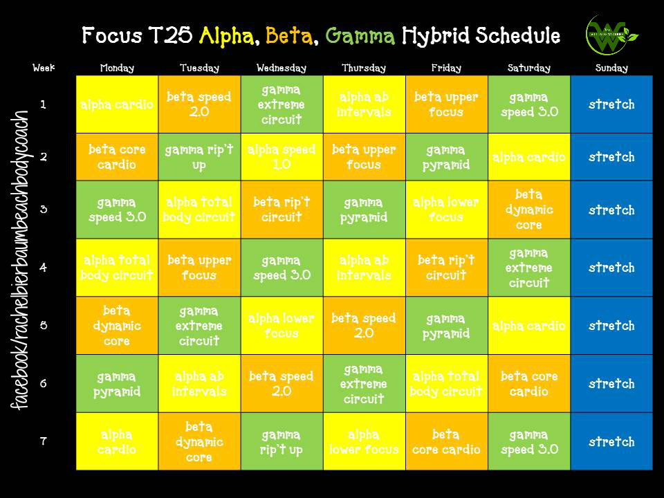 T25 Hybrid Calendar Fo...